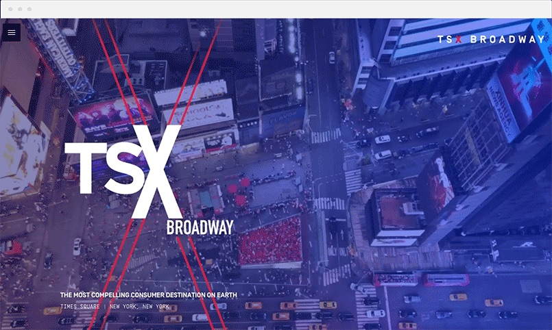 TSX Broadway home page gif in ATTCK.com case study